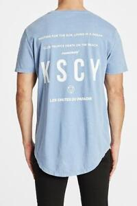 Kiss Chacey MENS CHASE THE SUN DUAL CURVED HEM TEE - ACID SKY BLUE