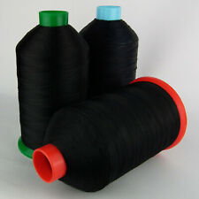 STRONG BONDED NYLON SEWING THREAD 20s 30s 40s 60s TKT LEATHER CRAFT REPAIR BLACK