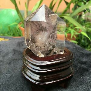 262G Natural Beautiful Green GHOST  QUARTZ Crystal Healing+stand AB433