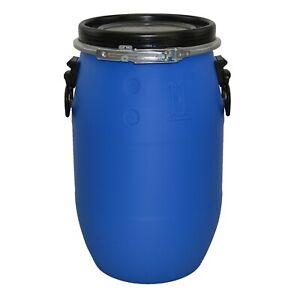 Open Top Plastic Storage Drum Barrel Keg With Lid 30 60 120 Litre Food Grade New