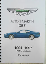 ASTON MARTIN DB7 PARTS MANUAL UP TO 1997 (PRE AIRBAG ) REPRINTED COMB BOUND
