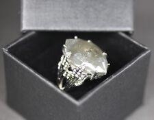 Cathy Waterman 12ct Rustic Marque Diamond Oak Leafside Ring - Platinum - Size 8