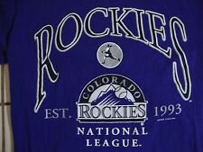 Vintage MLB Colorado Rockies Baseball 1993 National League T Shirt Size M
