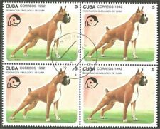 Dog Boxer block of 4 stamps (44)