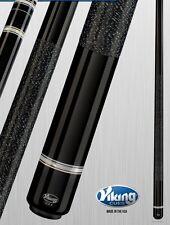 Viking 2pc Pool Cue Billiards custom new a263 Black Finish cuestick