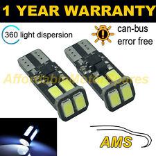 2x W5W T10 501 Errore Canbus libero BIANCO 6 SMD LED Luce Laterale Lampadine Bright sl103603