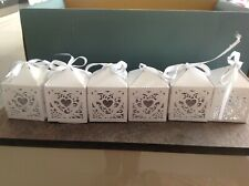 Pack of 2 Lavender Wedding Favour Boxes Decorated with Ribbon 2PK XB0756L