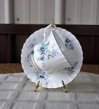 Royal Albert Inspiration tea cup & saucer blue floral design English Bone china