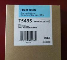 12-2011 Epson Genuine Ink 110ML T5435 Light Cyan For Stylus Pro 4000/7600/9600