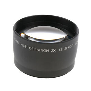 New 58 mm 2X Magnification HD Telephoto Converter Lens for Canon Nikon