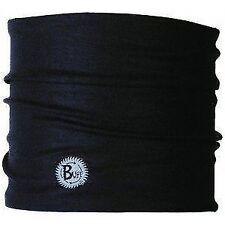 UV Half Buff Headwear Black Multifunction 8 Inch