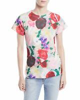 LIBERTINE Women's Size XL Watercolor Floral T-Shirt Top Short Sleeve LA CA USA