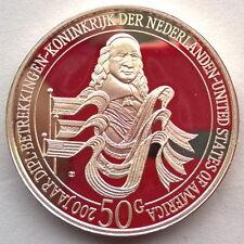 Netherlands Antilles 1982 Friendship 50 Gulden Silver Coin,Proof