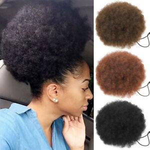 Natural Curly Puff Ponytail Drawstring Hair Extension Synthetic Bun Scrunchie
