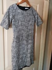 Womens Textured Mango Short Sleeve Black and White Dress. Size 10