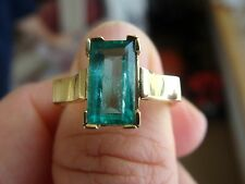 Fabulous 2.00ct Solitaire 100% Natural Colombian  Emerald Ring 18K Yellow Gold