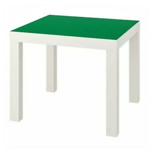 """IKEA LACK Side table, white/green 21 5/8x21 5/8 """" NEW"""