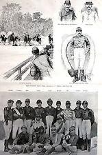 Futurity Horse Race JOCKEYS McLaugin Barnes Ray Kiley 1891 Matted Print w STORY