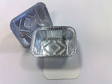 100 x No2 Heavy Duty Catering Aluminium Foil Food Grade Containers with Lids