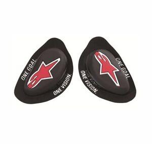 Alpinestars GP Knee Sliders Replacements - Pair - Hard Compound - Black - *NEW*