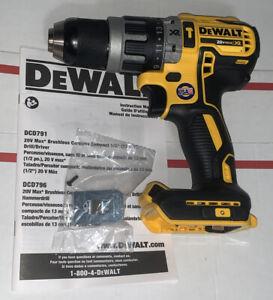 Dewalt DCD796 20-Volt Max XR 1/2 in Hammer Drill Compact Brushless USA 🇺🇸New