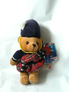 """Keel Toys Scotland Plush Bear with Tags Simply Soft Collection Bagpipes Teddy 9"""""""