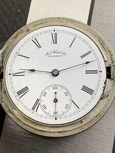 ANTIQUE WALTHAM POCKET Watch Grade Bond St Model 1884 Year 1889 14S 7J Working !