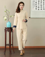 Chinese Traditional  Blouse Women Linen Shirt Summer Tops Size M-3XL