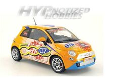 NOREV 1:18 2008 FIAT 500 M. SCHUMACHER LIMITED DIE-CAST ORANGE 187732