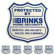 1 HOME SECURITY YARD SIGN and 5 STICKERS / DECALS FOR DOORS WINDOWS BRINKS ADT