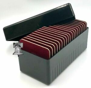Air-tite Storage Box + 20 Coin Holder Velvet Display Card Case + Model I Capsule