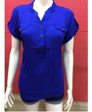 CHIFFON BLOUSE EO Royal Blue