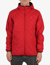 Chocolate QUIKPAK Mens Zipper Front PACKABLE Jacket Large Red NEW
