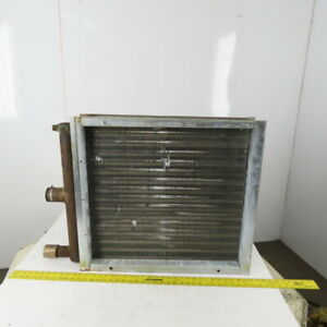 """Heatcraft 25 x 27-1/2"""" 2 Row 5/8"""" Tube Heating Cooling Steam Coil Heat Exchanger"""