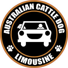 "LIMOUSINE AUSTRALIAN CATTLE DOG 5"" STICKER"