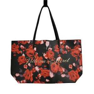 New Victoria's Secret Limited Edition 2019 Large Red Floral Rose Tote Bag