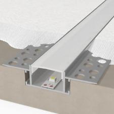 Profilo alluminio opaco 2mt incasso scomparsa cartongesso per strip striscia led