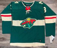 NWT Adidas Minnesota Wild NHL Hockey Authentic Mens 54 #3 Charles Coyle Jersey