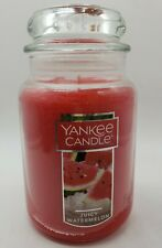 Yankee Candle Aromatic Juicy Watermelon RARE 22 Oz Large Jar Candle NEW