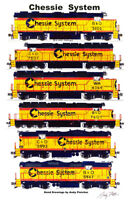 "Chessie System Locomotives 11""x17"" Poster by Andy Fletcher signed"