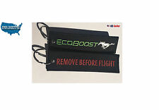 2 x  Ford  MUSTANG ECO BOOSTREMOVE BEFORE FLIGHT KEY CHAIN AVIATION TAGS