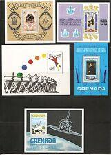 Grenada SC # 848-864-876-882-1054 Souvenir Sheets .MNH