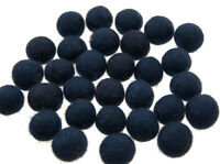 25 Perline Palle Di Feltro Naturale Ø=1.3 CM Nepal Blu BA4