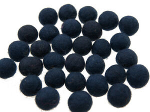 50 Perlen Bälle Von Filztasche Filz Natürlich Ø= 2.1 CM Nepal Blau BO13