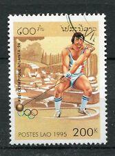 LAOS, 1995, timbre 1175, SPORT, JEUX OLYMPIQUES, MARTEAU, oblitéré