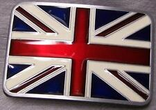 Pewter Belt Buckle National Flag of Great Britain NEW