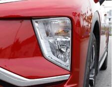 Chrome Front Fog Lamp Light Cover Trim 2pcs for Mitsubishi Eclipse Cross 2018