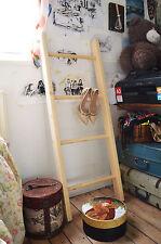 Small Retro Multi Purpose Ladder Hand Made Pine Wood Decorative Vintage