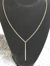 Gold Plated Lovely Chic Fashion Hanging Bar Chain Pendant