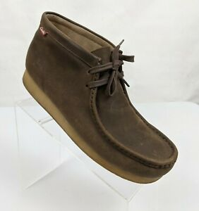 Clarks Men's Stinson Hi Wallabees Chukka Leather Shoes Red Tab Size US 10M